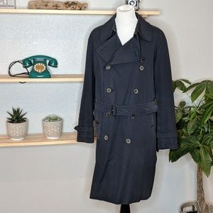 Mens Navy Burberry Trench Coat -flaws